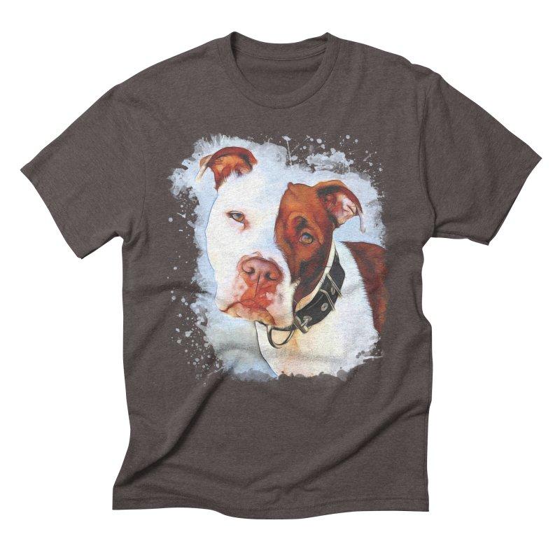 Pit Bull Men's Triblend T-Shirt by Andy's Paw Prints Shop