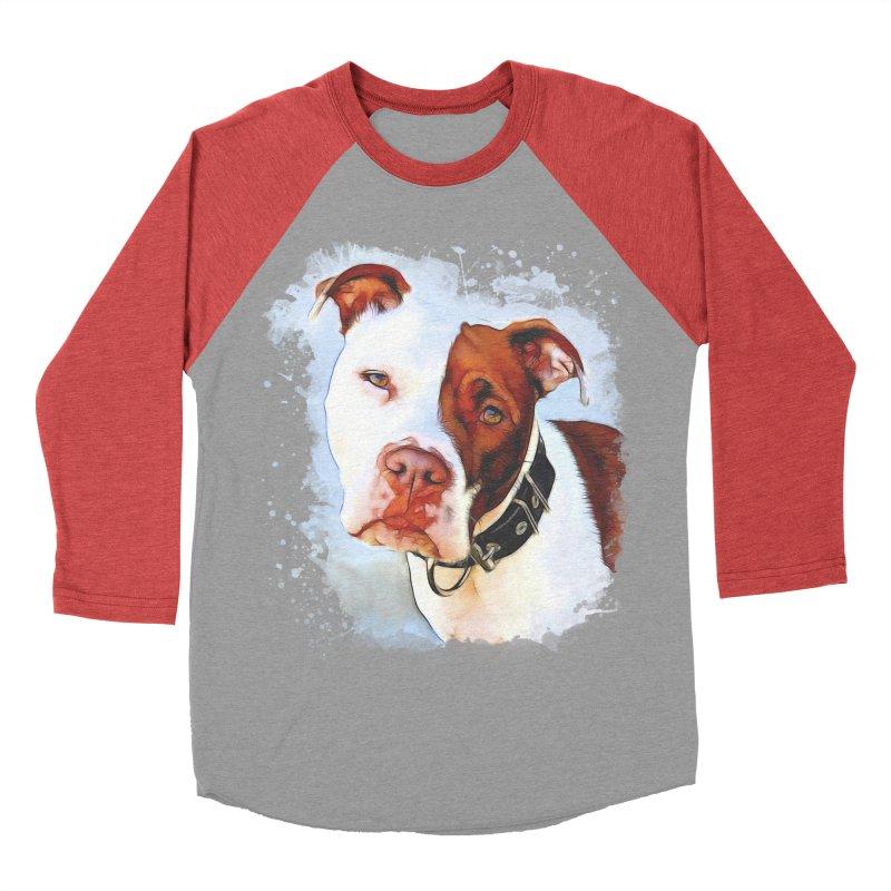 Pit Bull Women's Baseball Triblend Longsleeve T-Shirt by Andy's Paw Prints Shop