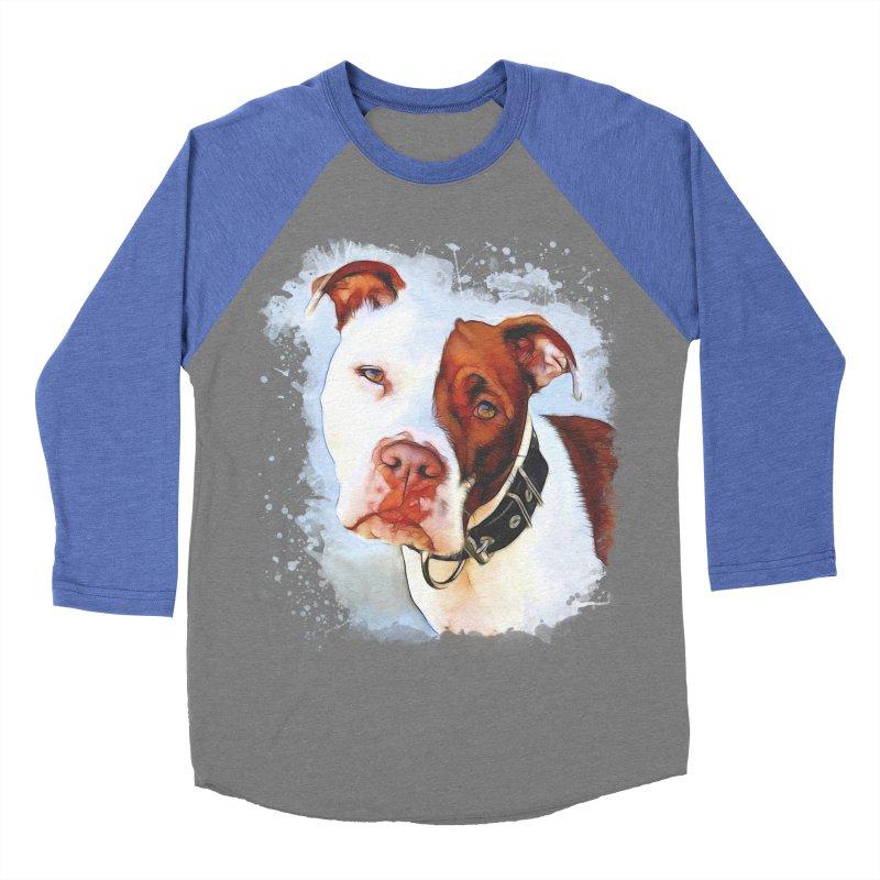 Pit Bull Men's Baseball Triblend Longsleeve T-Shirt by Andy's Paw Prints Shop