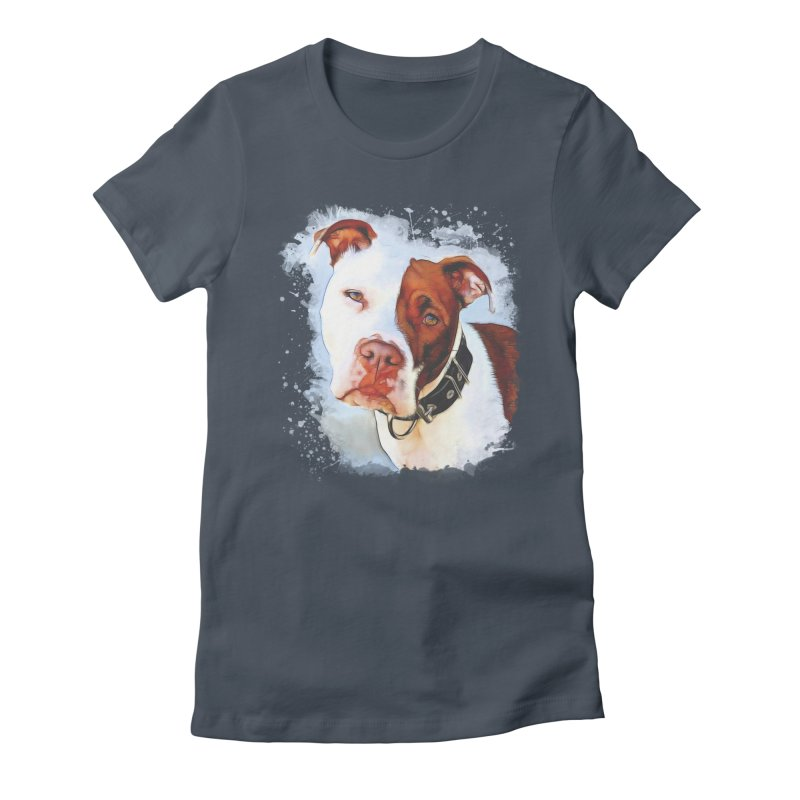 Pit Bull Women's T-Shirt by Andy's Paw Prints Shop