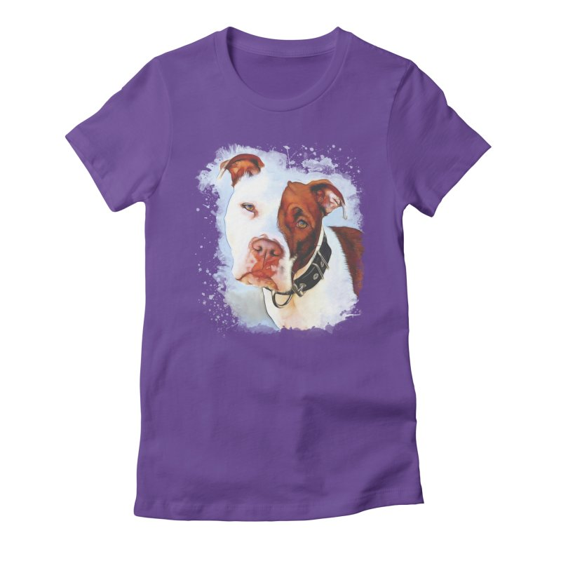 Pit Bull Women's Fitted T-Shirt by Andy's Paw Prints Shop