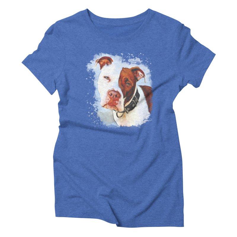 Pit Bull Women's Triblend T-Shirt by Andy's Paw Prints Shop