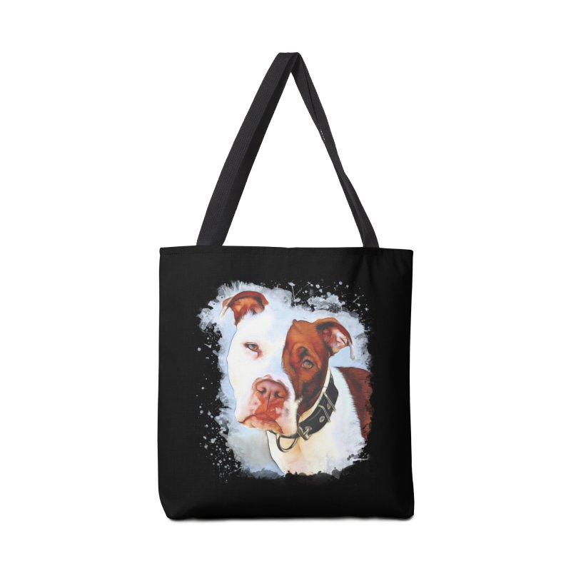Pit Bull Accessories Tote Bag Bag by Andy's Paw Prints Shop