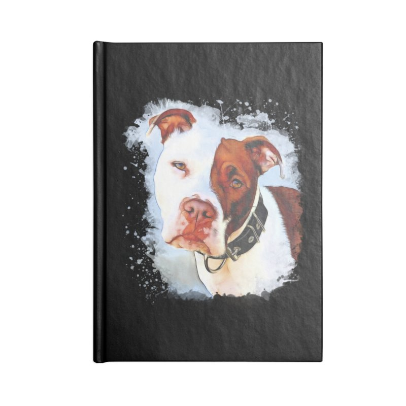 Pit Bull Accessories Lined Journal Notebook by Andy's Paw Prints Shop