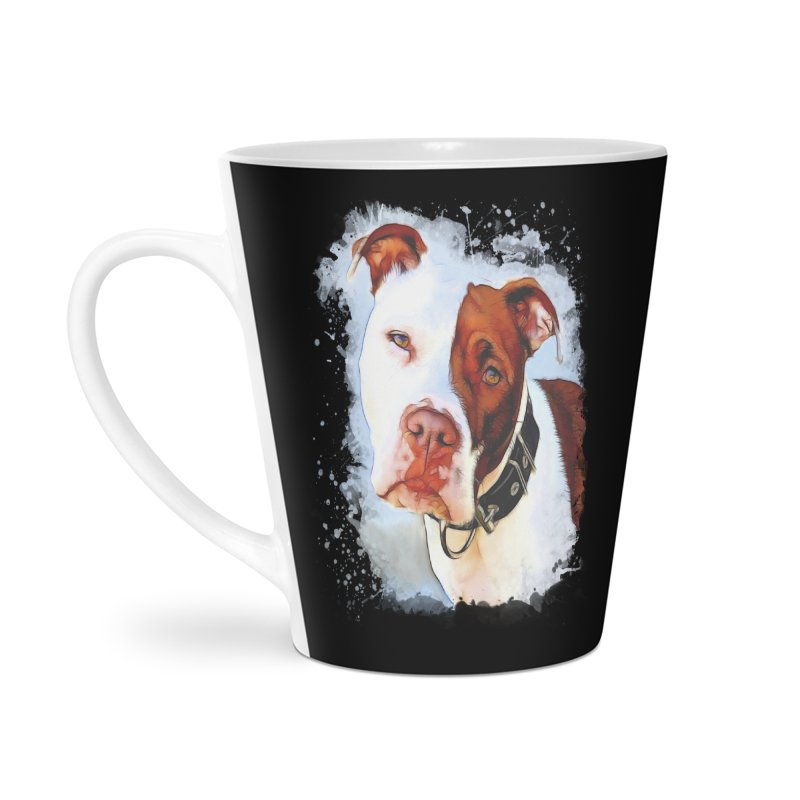 Pit Bull Accessories Latte Mug by Andy's Paw Prints Shop
