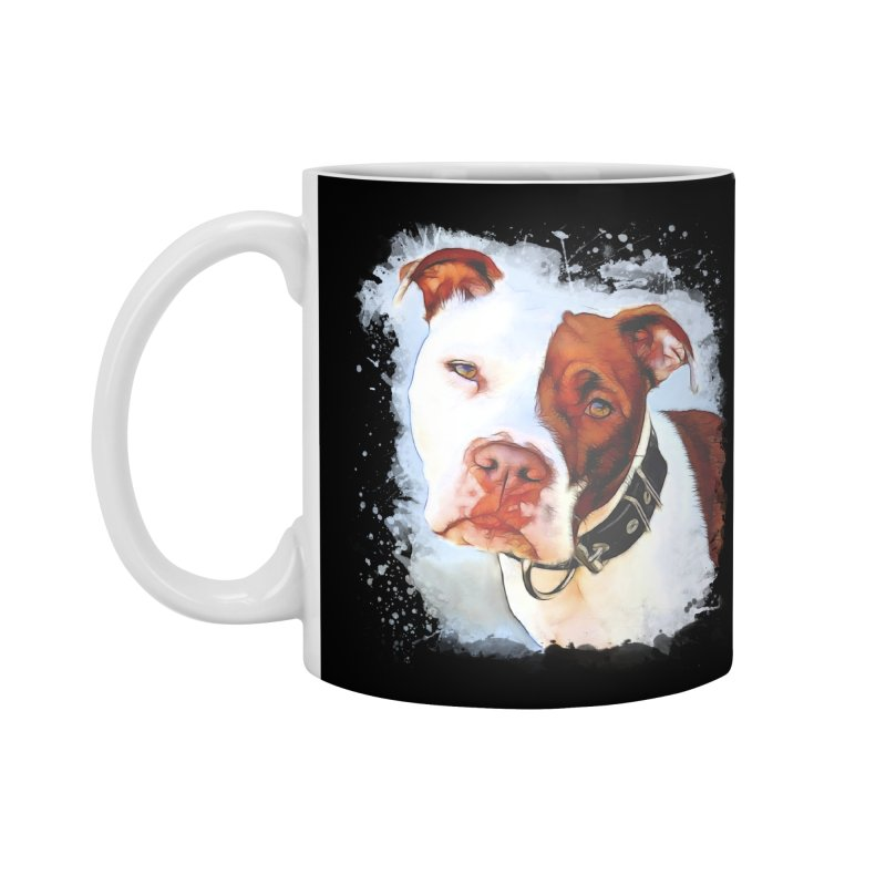 Pit Bull Accessories Standard Mug by Andy's Paw Prints Shop