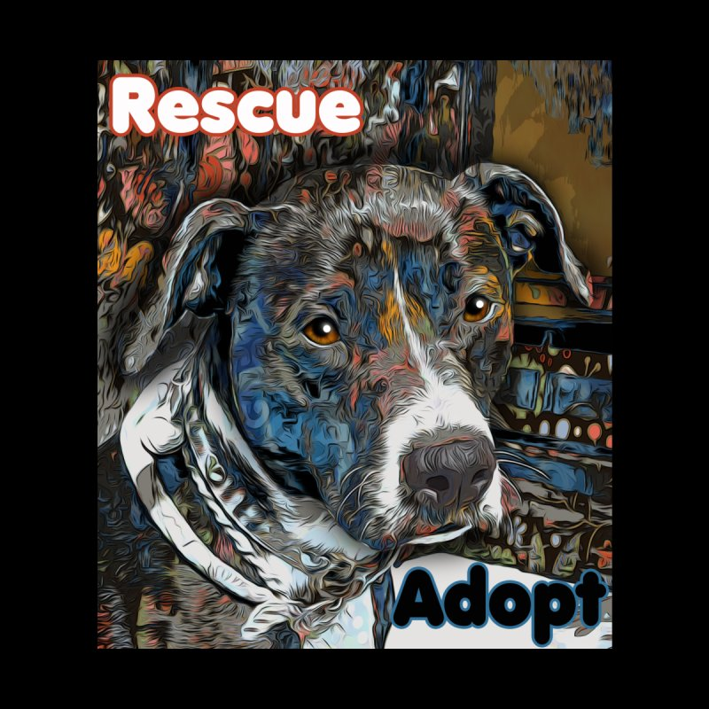 Rescue Adopt Home Throw Pillow by Andy's Paw Prints Shop