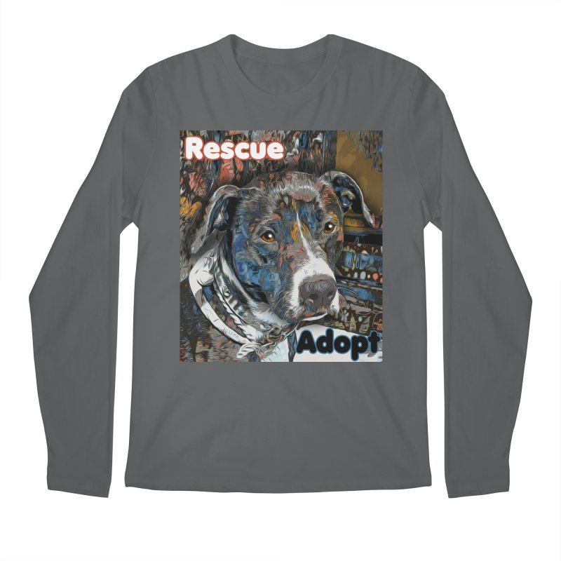 Rescue Adopt Men's Longsleeve T-Shirt by Andy's Paw Prints Shop