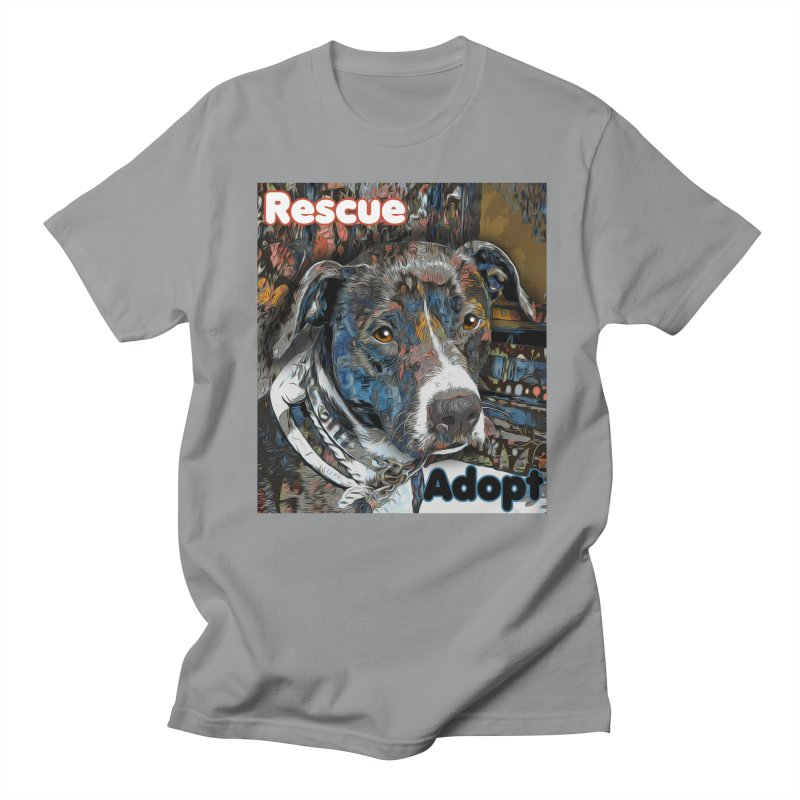 Rescue Adopt Men's Regular T-Shirt by Andy's Paw Prints Shop