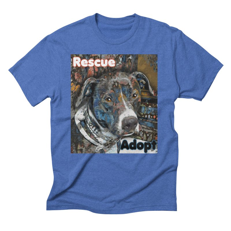 Rescue Adopt Men's T-Shirt by Andy's Paw Prints Shop