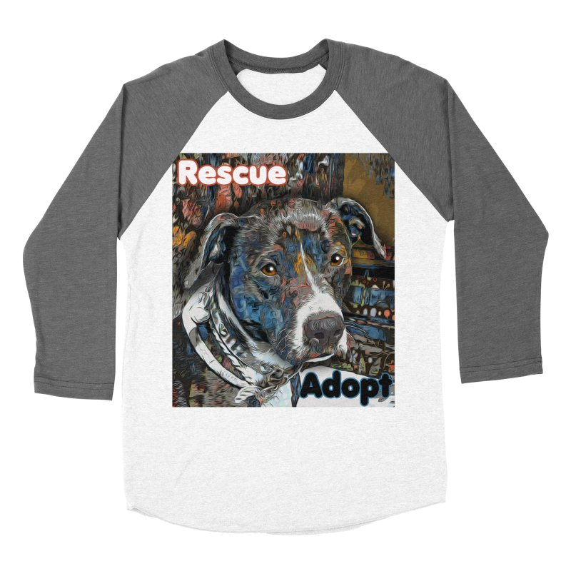 Rescue Adopt Women's Longsleeve T-Shirt by Andy's Paw Prints Shop