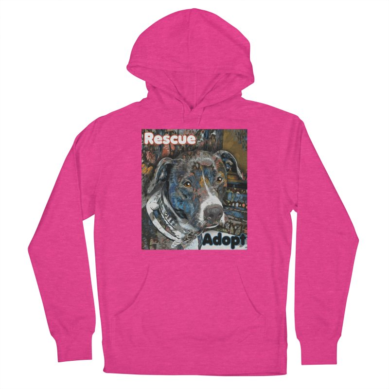 Rescue Adopt Women's French Terry Pullover Hoody by Andy's Paw Prints Shop