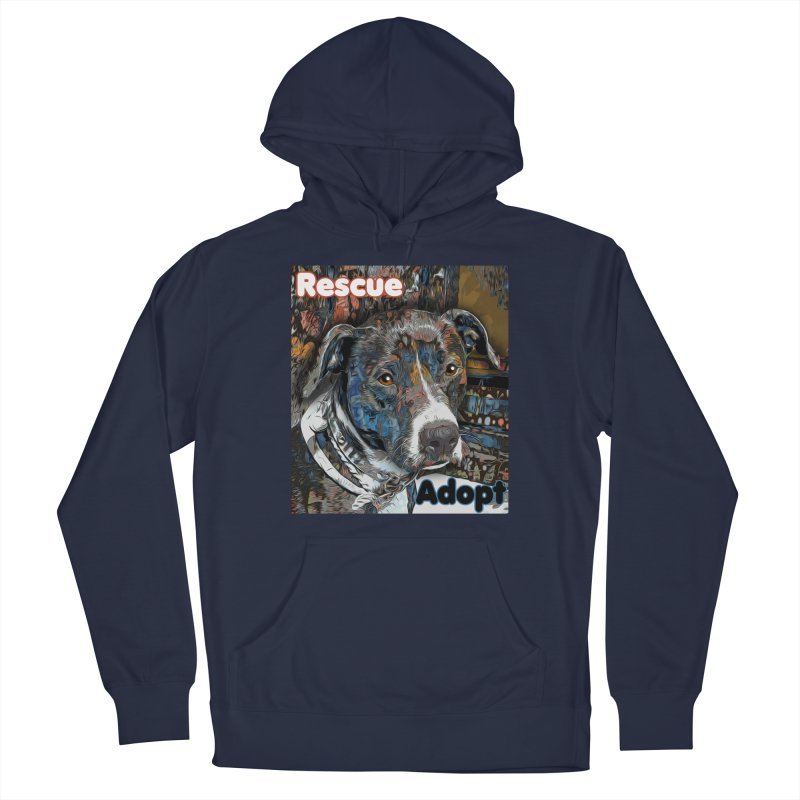 Rescue Adopt Men's Pullover Hoody by Andy's Paw Prints Shop