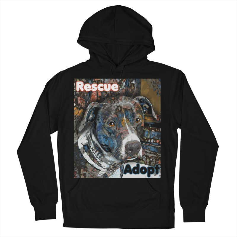 Rescue Adopt Men's French Terry Pullover Hoody by Andy's Paw Prints Shop