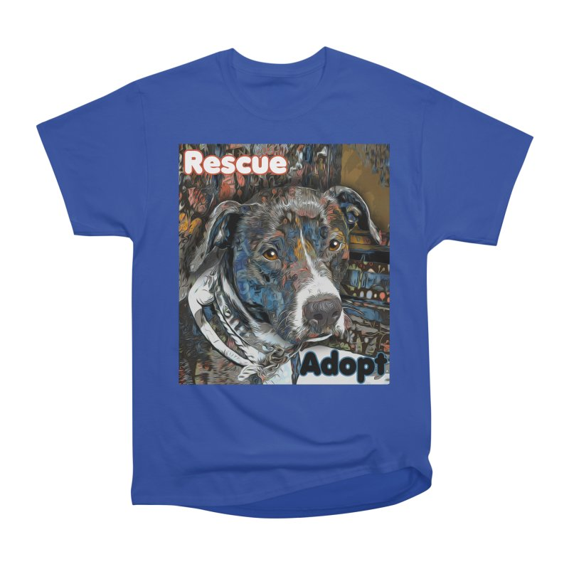 Rescue Adopt Men's Heavyweight T-Shirt by Andy's Paw Prints Shop