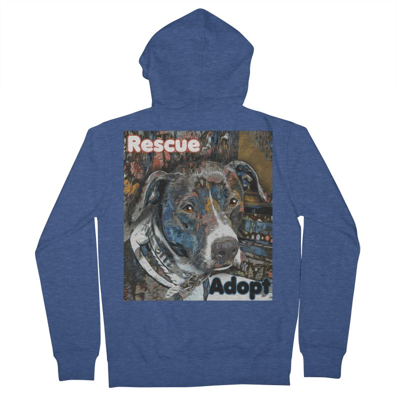 Rescue Adopt Women's French Terry Zip-Up Hoody by Andy's Paw Prints Shop