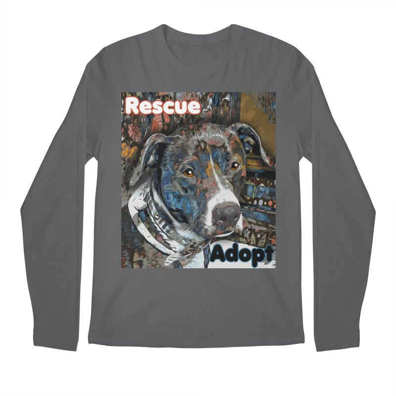 Rescue Adopt Men's Regular Longsleeve T-Shirt by Andy's Paw Prints Shop