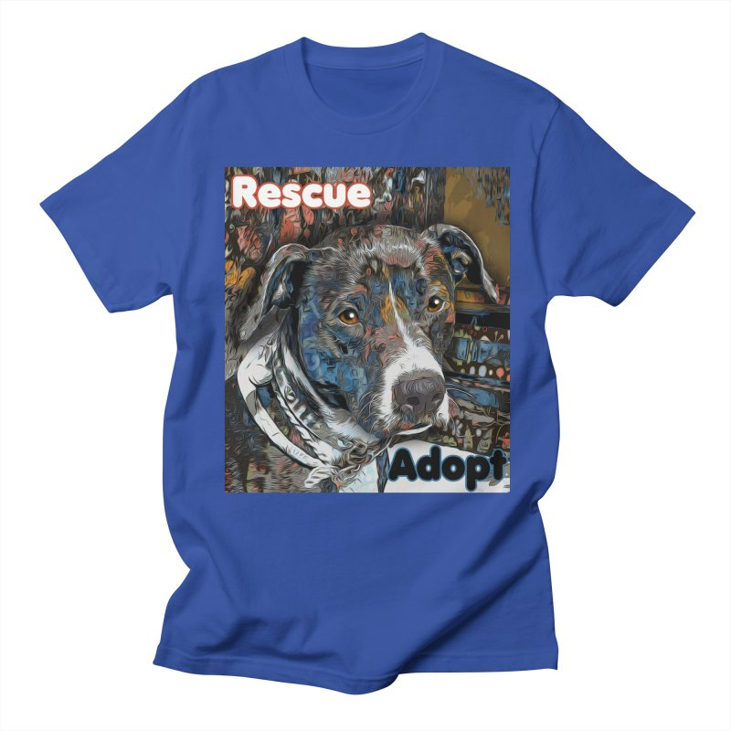 Rescue Adopt Women's Regular Unisex T-Shirt by Andy's Paw Prints Shop