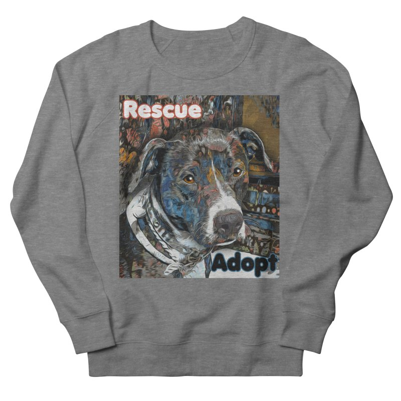 Rescue Adopt Women's French Terry Sweatshirt by Andy's Paw Prints Shop