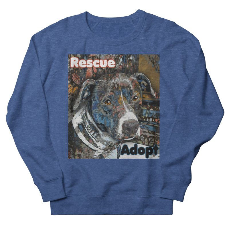 Rescue Adopt Men's French Terry Sweatshirt by Andy's Paw Prints Shop