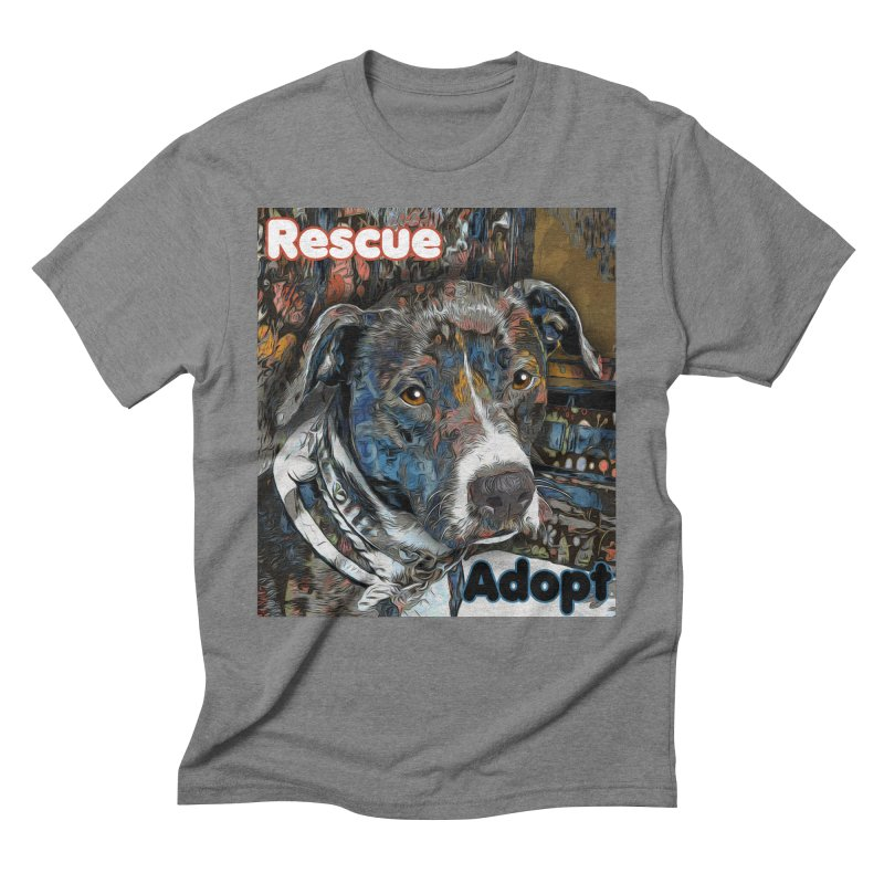 Rescue Adopt Men's Triblend T-Shirt by Andy's Paw Prints Shop