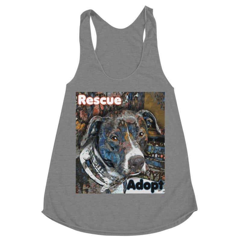 Rescue Adopt Women's Racerback Triblend Tank by Andy's Paw Prints Shop