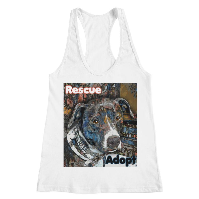 Rescue Adopt Women's Racerback Tank by Andy's Paw Prints Shop