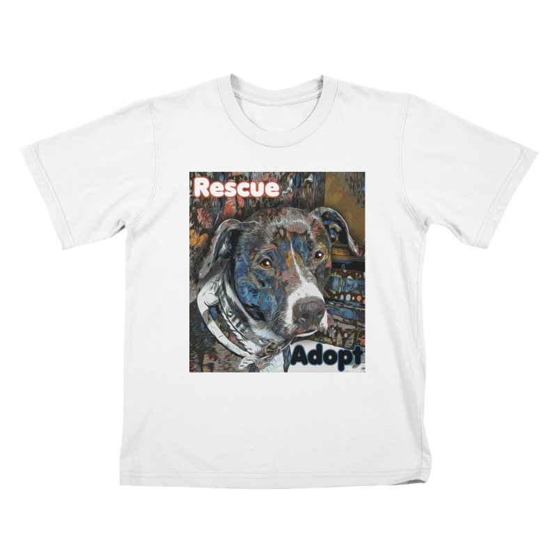 Rescue Adopt Kids T-Shirt by Andy's Paw Prints Shop