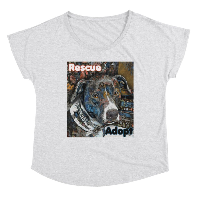 Rescue Adopt Women's Dolman Scoop Neck by Andy's Paw Prints Shop