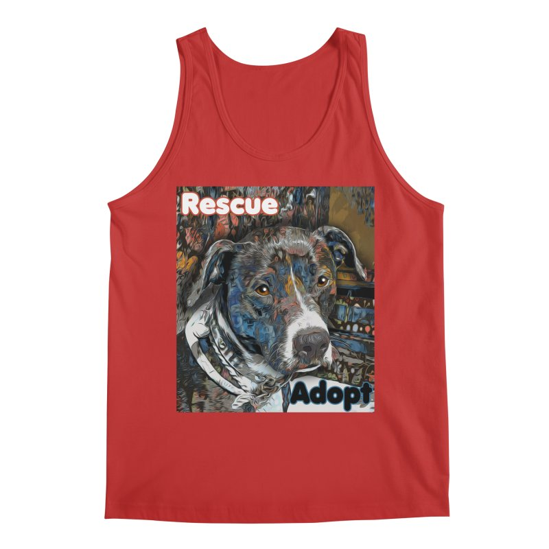 Rescue Adopt Men's Regular Tank by Andy's Paw Prints Shop