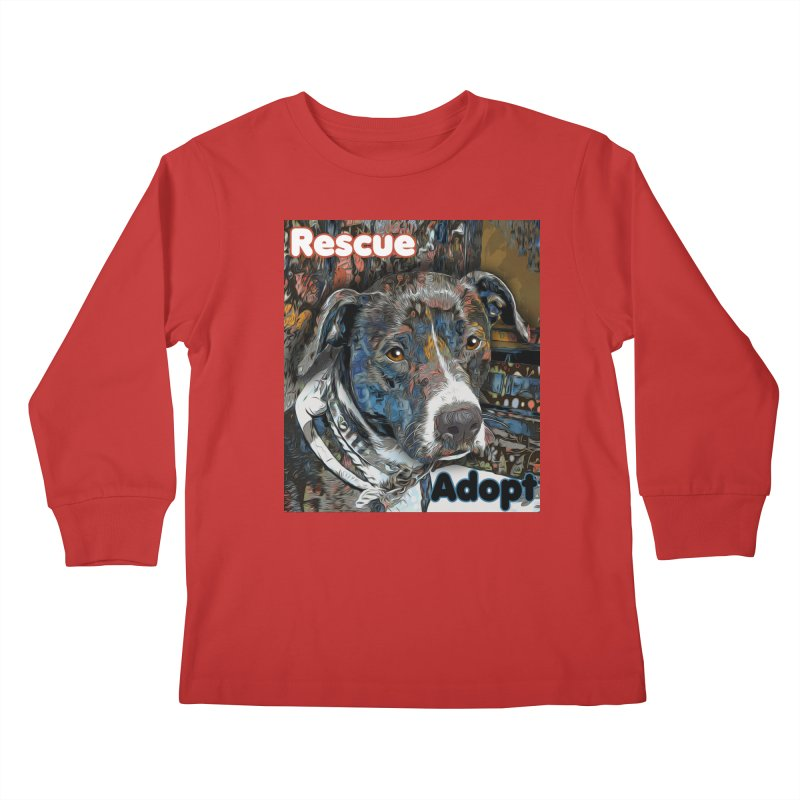 Rescue Adopt Kids Longsleeve T-Shirt by Andy's Paw Prints Shop