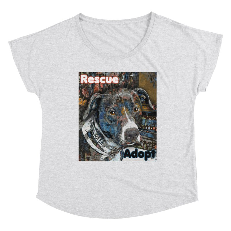 Rescue Adopt Women's Scoop Neck by Andy's Paw Prints Shop