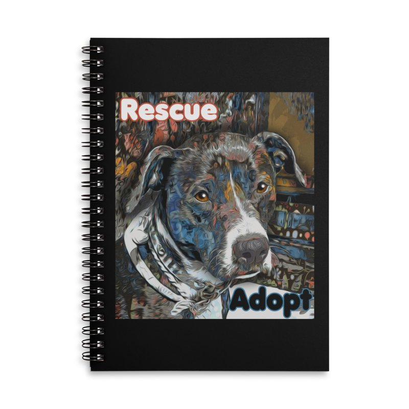Rescue Adopt Accessories Lined Spiral Notebook by Andy's Paw Prints Shop