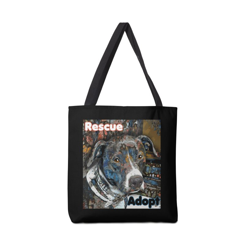 Rescue Adopt Accessories Tote Bag Bag by Andy's Paw Prints Shop