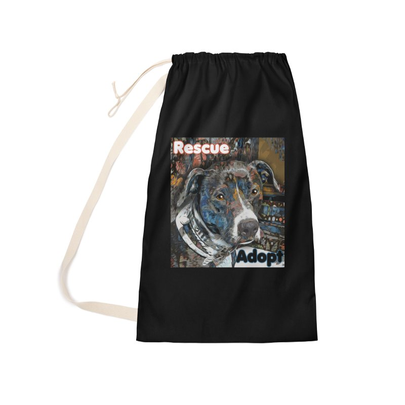 Rescue Adopt Accessories Laundry Bag Bag by Andy's Paw Prints Shop