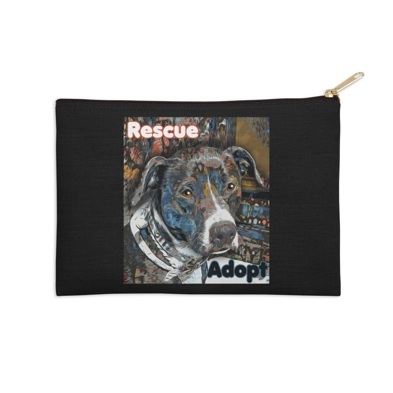Rescue Adopt Accessories Zip Pouch by Andy's Paw Prints Shop