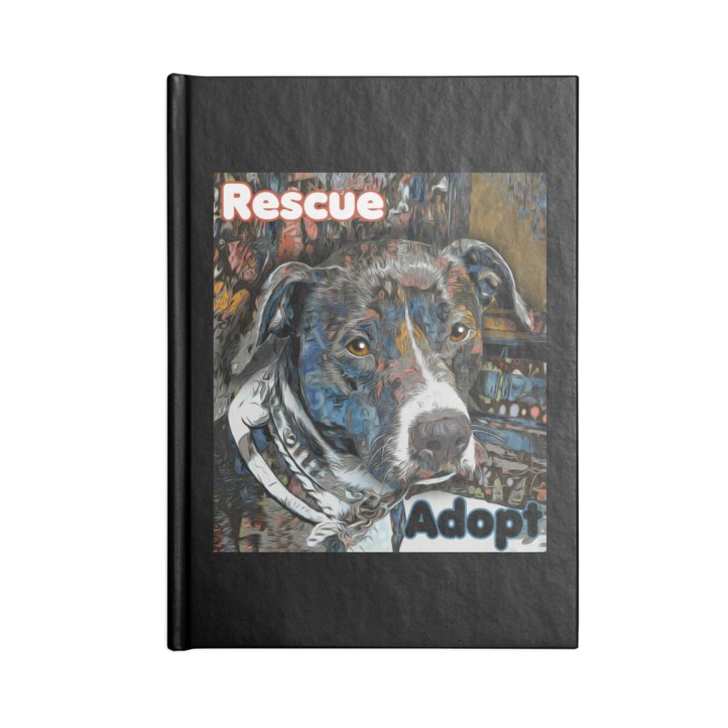 Rescue Adopt Accessories Lined Journal Notebook by Andy's Paw Prints Shop