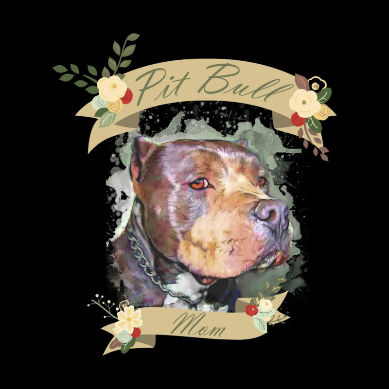 Pit Bull Mom by Andy's Paw Prints Shop