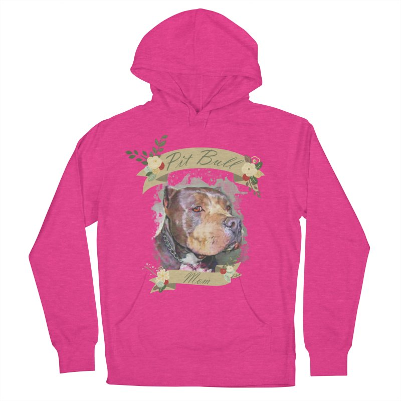 Pit Bull Mom Women's French Terry Pullover Hoody by Andy's Paw Prints Shop