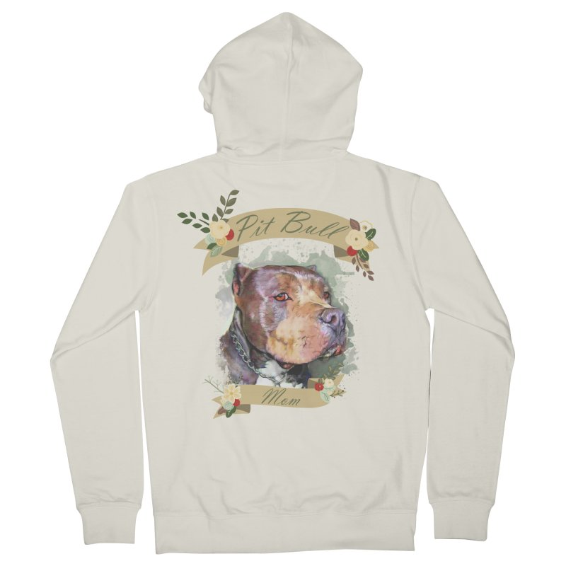 Pit Bull Mom Women's Zip-Up Hoody by Andy's Paw Prints Shop