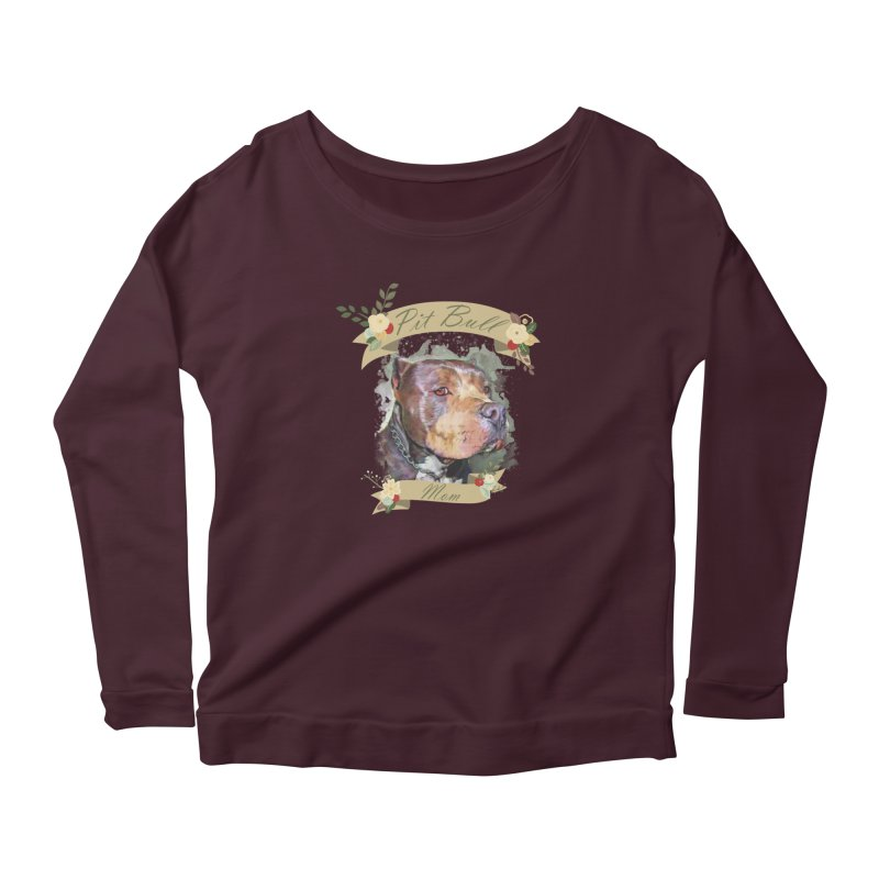 Pit Bull Mom Women's Longsleeve T-Shirt by Andy's Paw Prints Shop