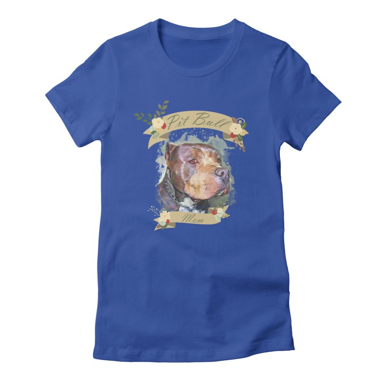 Pit Bull Mom Women's T-Shirt by Andy's Paw Prints Shop