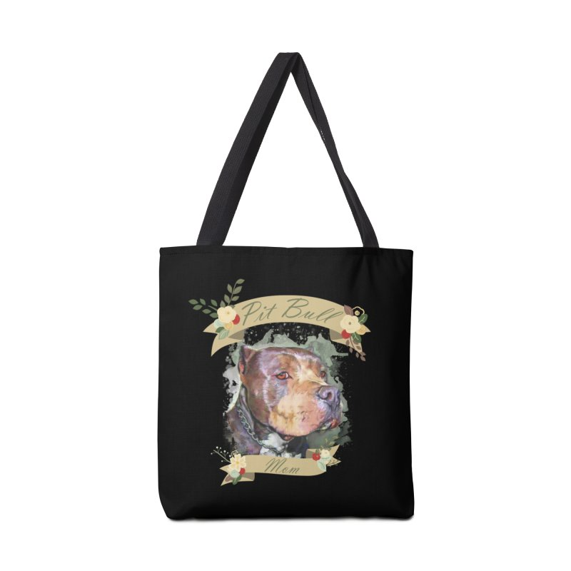 Pit Bull Mom Accessories Tote Bag Bag by Andy's Paw Prints Shop