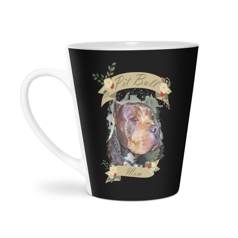 Pit Bull Mom Accessories Latte Mug by Andy's Paw Prints Shop