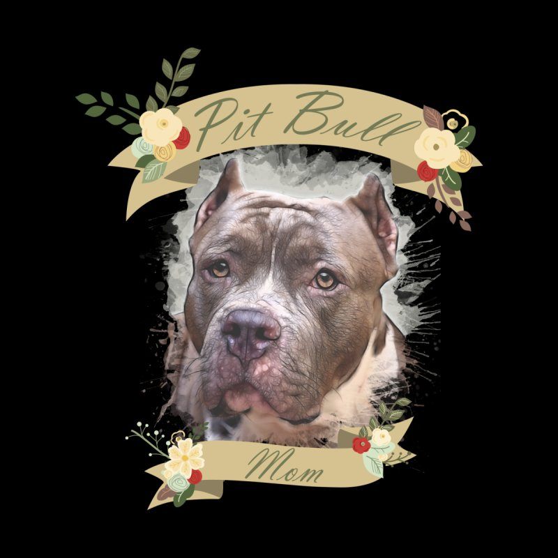 Pit Bull Mom 2 by Andy's Paw Prints Shop