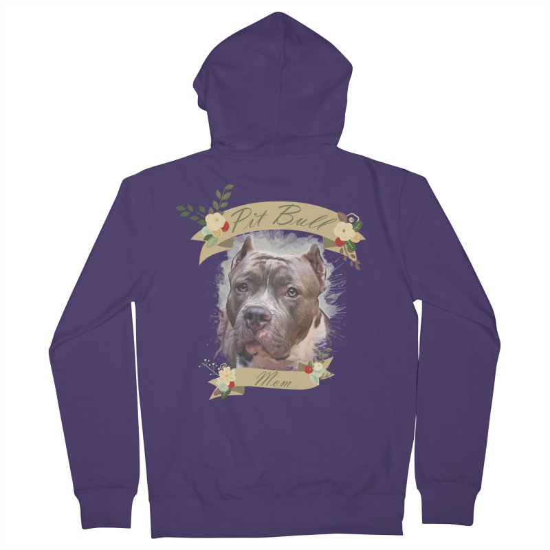 Pit Bull Mom 2 Women's Zip-Up Hoody by Andy's Paw Prints Shop