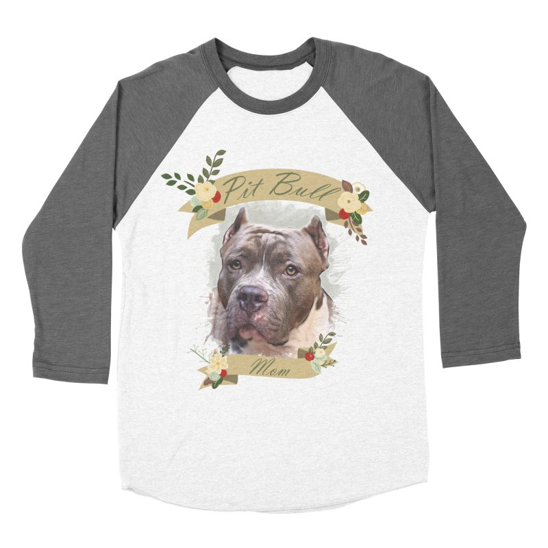 Pit Bull Mom 2 Women's Longsleeve T-Shirt by Andy's Paw Prints Shop