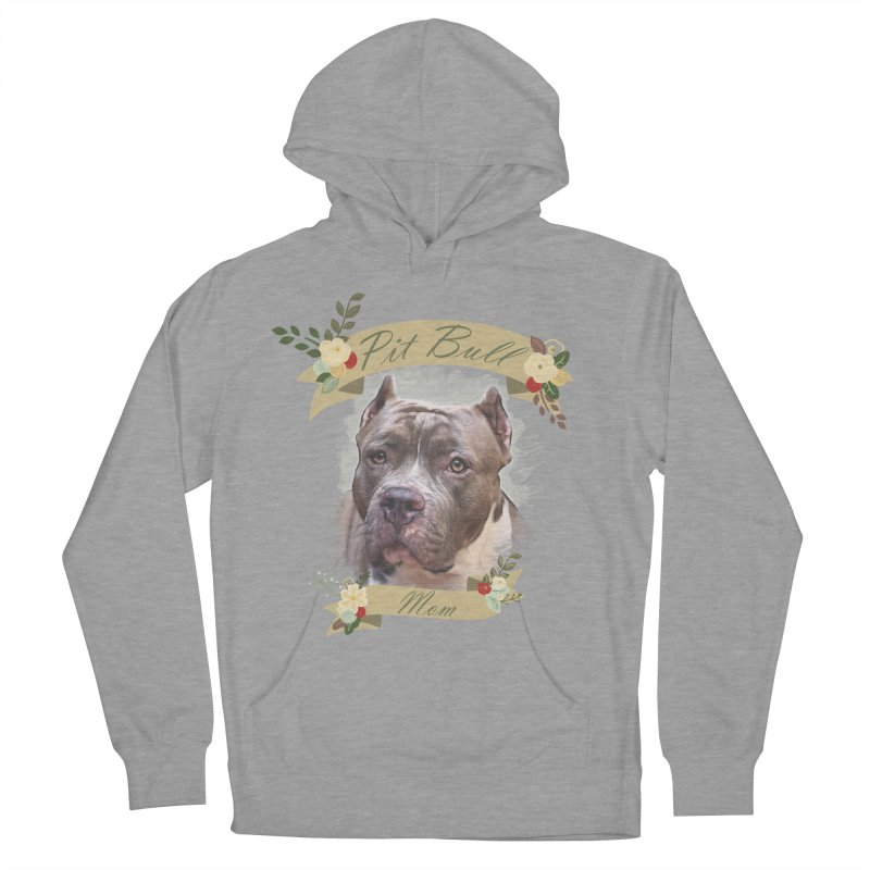 Pit Bull Mom 2 Women's Pullover Hoody by Andy's Paw Prints Shop