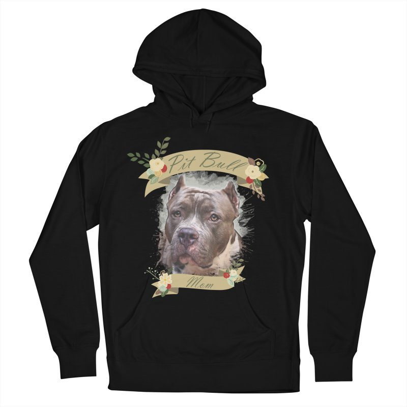 Pit Bull Mom 2 Women's French Terry Pullover Hoody by Andy's Paw Prints Shop