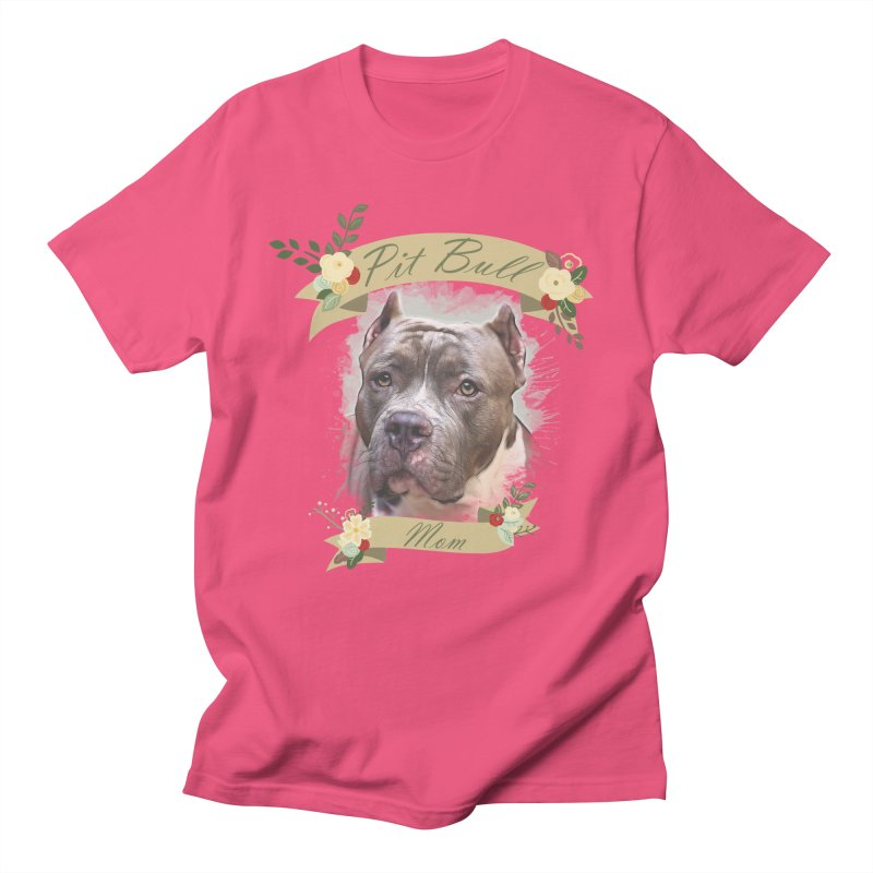 Pit Bull Mom 2 Women's Regular Unisex T-Shirt by Andy's Paw Prints Shop